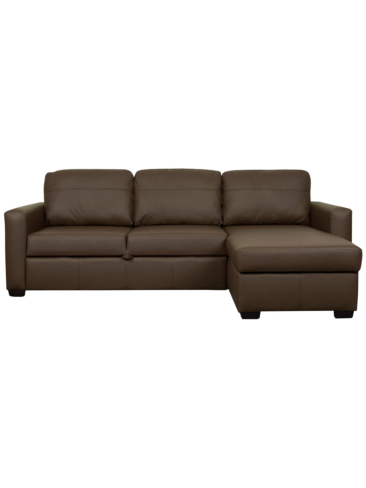 John Lewis Sacha Large Leather Sofa Bed with Foam Mattress ...