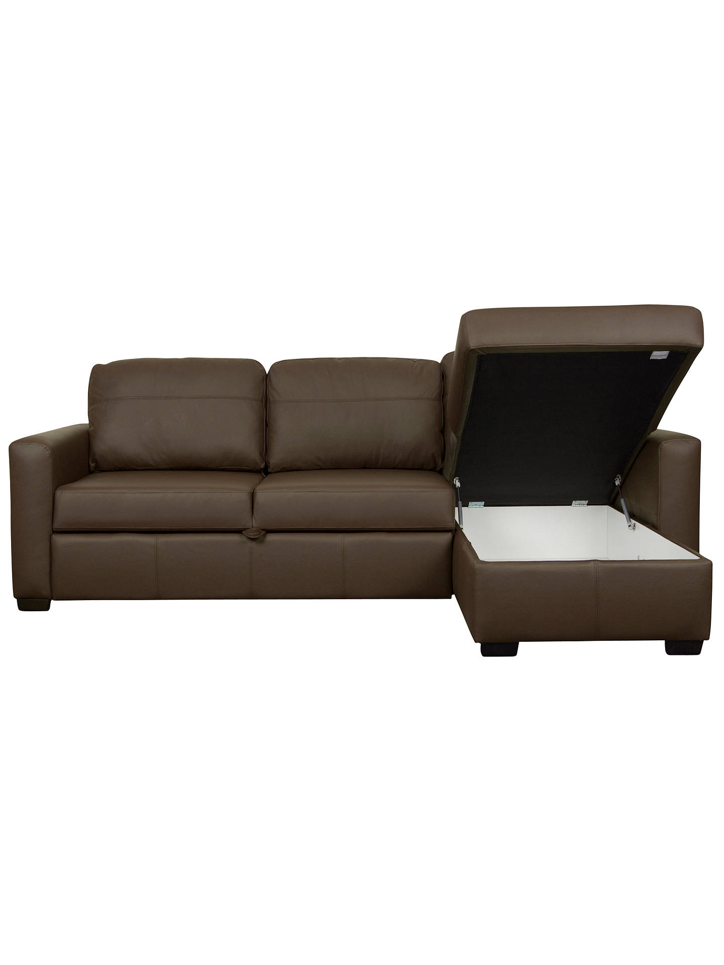 Fabulous John Lewis Sacha Large Leather Sofa Bed With Foam Mattress Evergreenethics Interior Chair Design Evergreenethicsorg