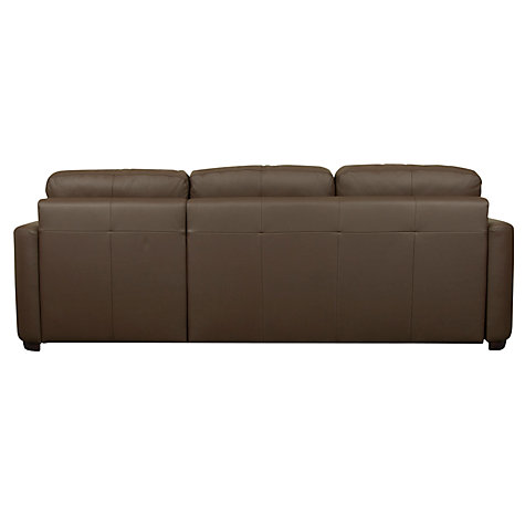 Buy John Lewis Sacha Large Leather Sofa Bed With Foam