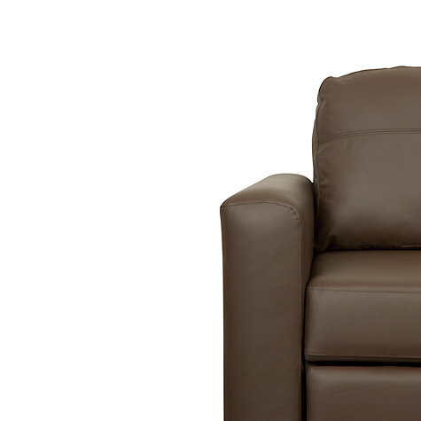 Buy John Lewis Sacha Large Leather Sofa Bed with Foam Mattress, Madras Chocolate Online at johnlewis.com
