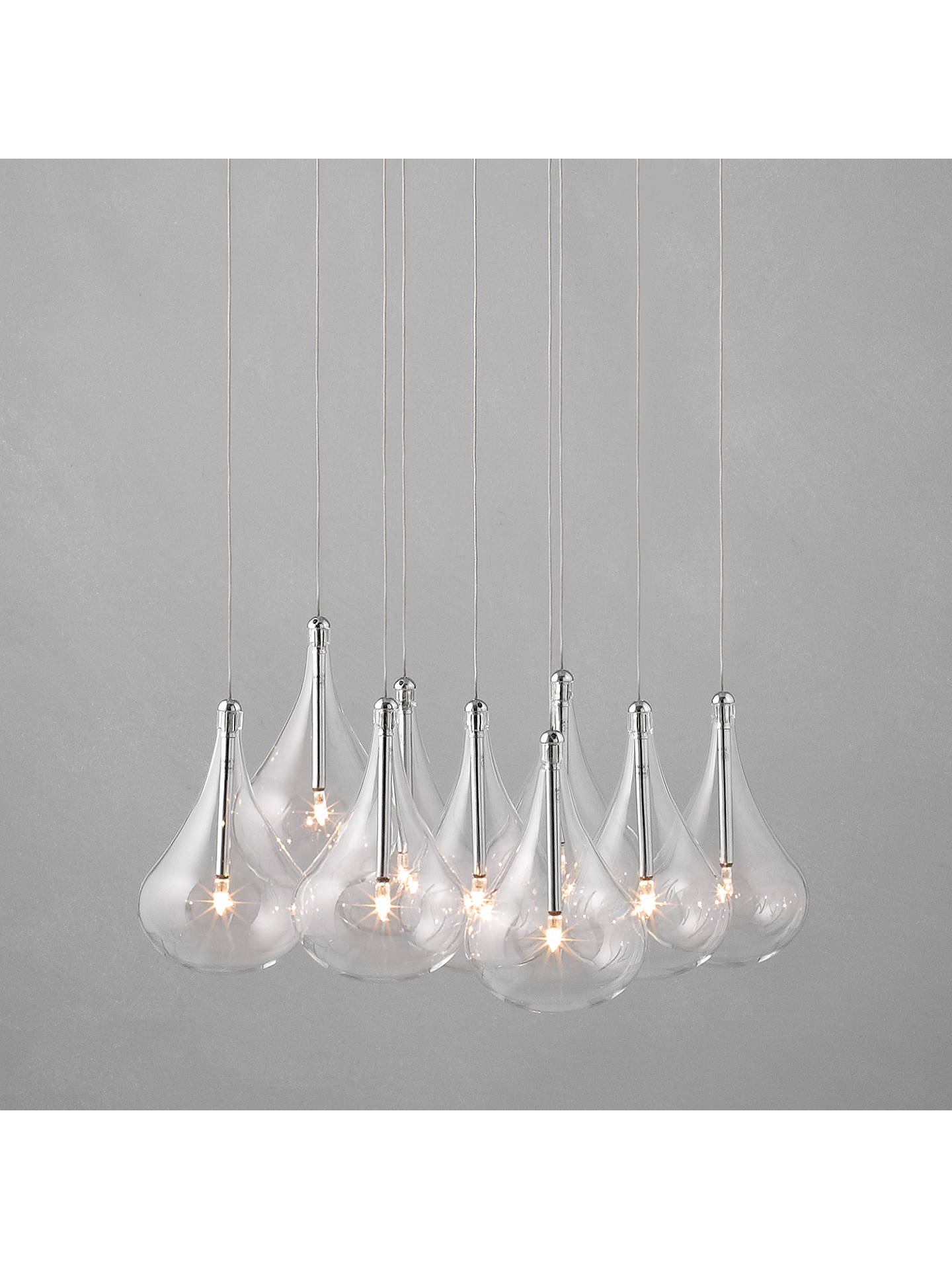 huge discount e1261 2671a John Lewis & Partners Jensen Dangle Cluster Ceiling Lights, x9 Lights