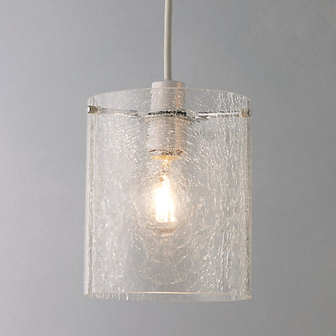 Buy John Lewis Easy To Fit Dallas Crackle Glass Ceiling