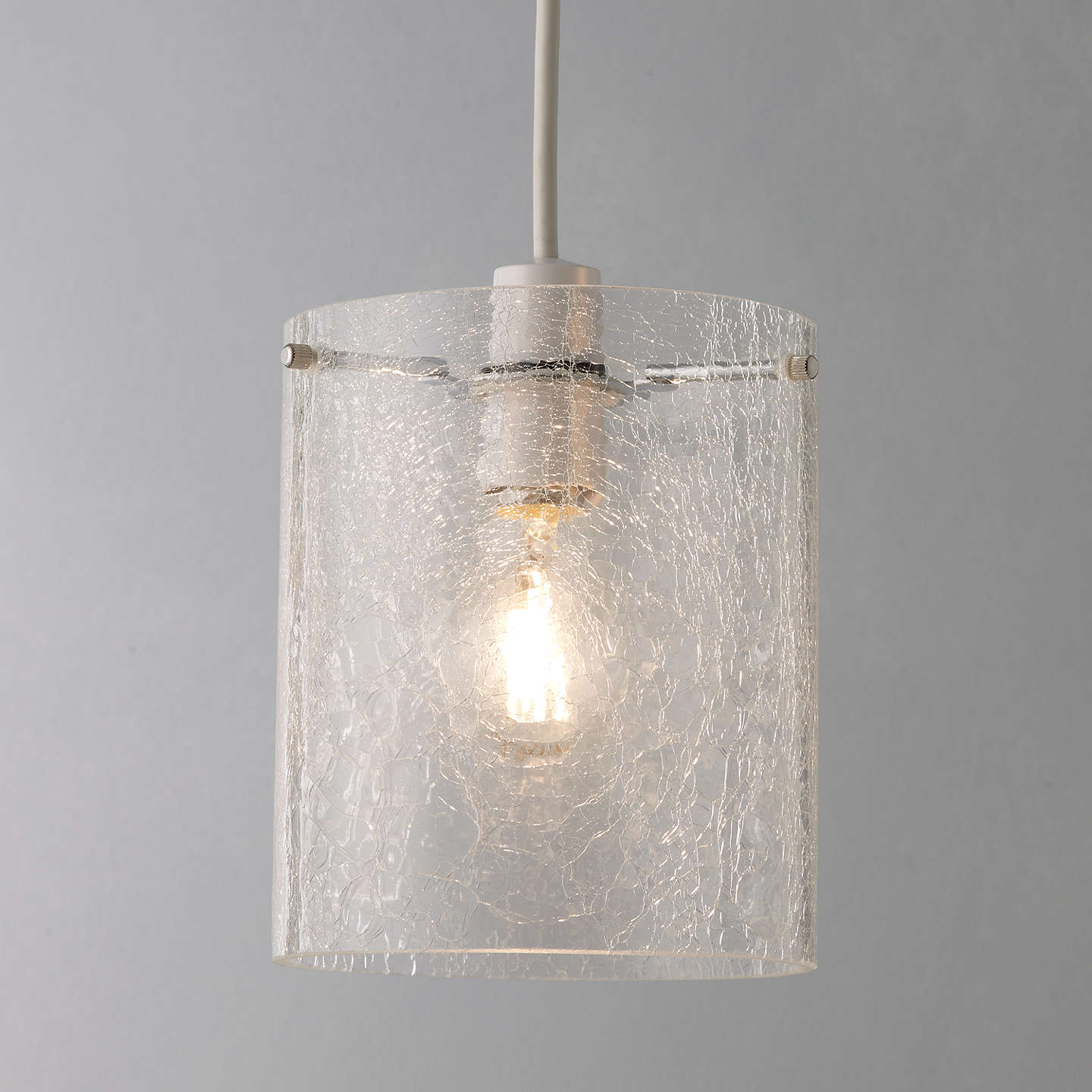 Ceiling Lamp Shade Doesn T Fit: John Lewis Easy-to-fit Dallas Crackle Glass Ceiling Shade