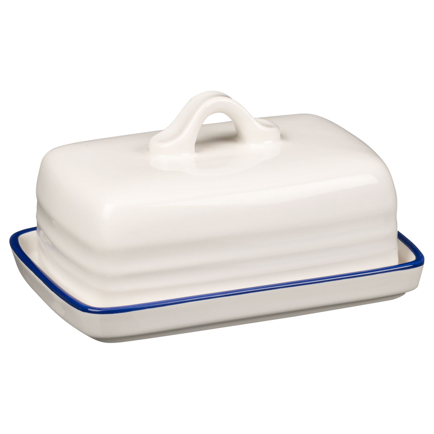 John Lewis Cupola Bone China Butter Dish, White | Compare | Bluewater