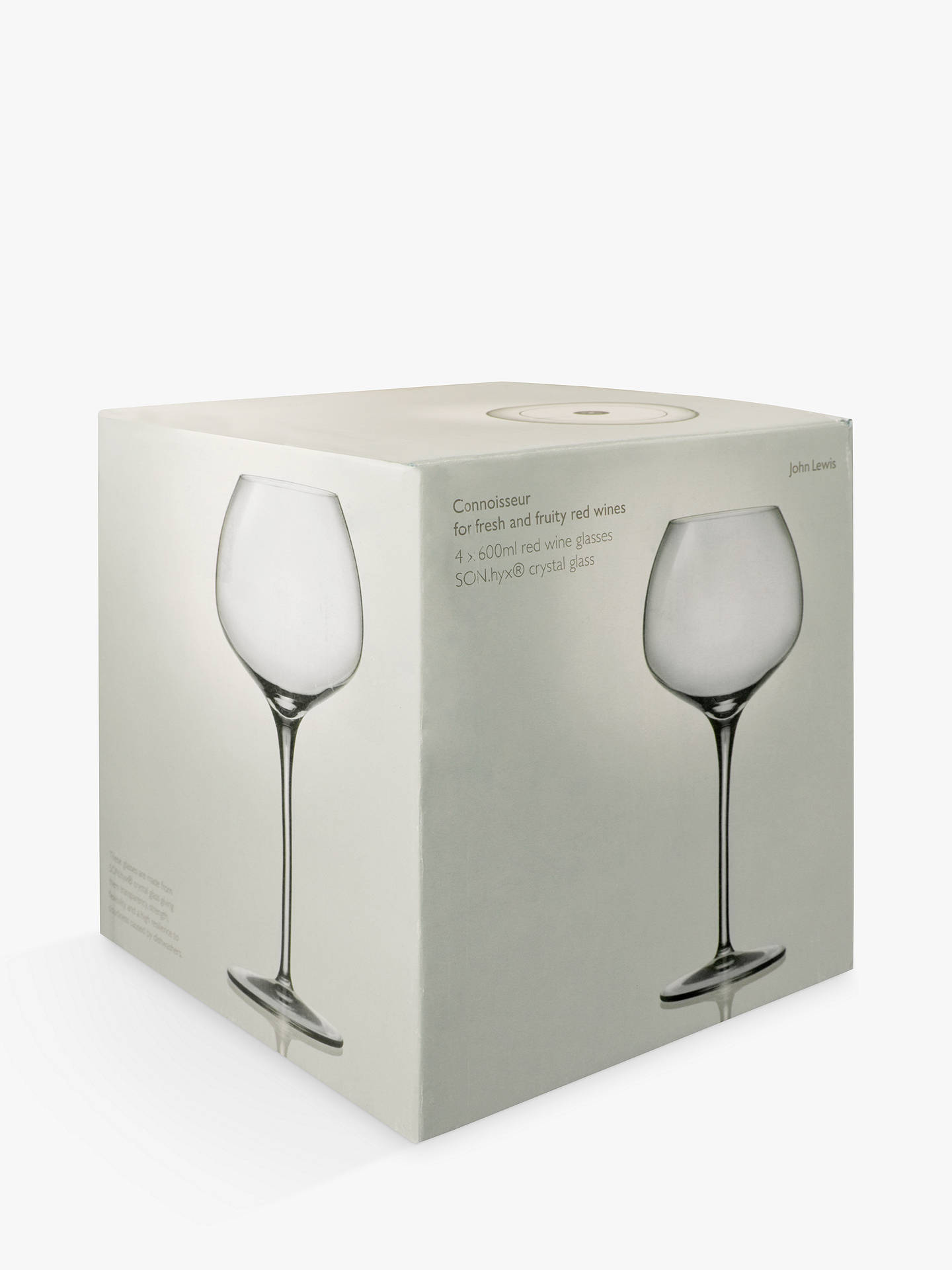 Buy John Lewis & Partners Connoisseur Red Wine Glasses, Set of 4, Clear, 600ml Online at johnlewis.com