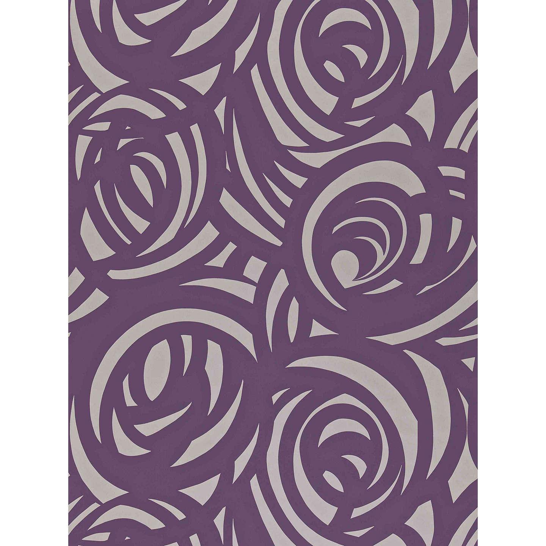 harlequin vortex wallpaper plum 110078 at john lewis