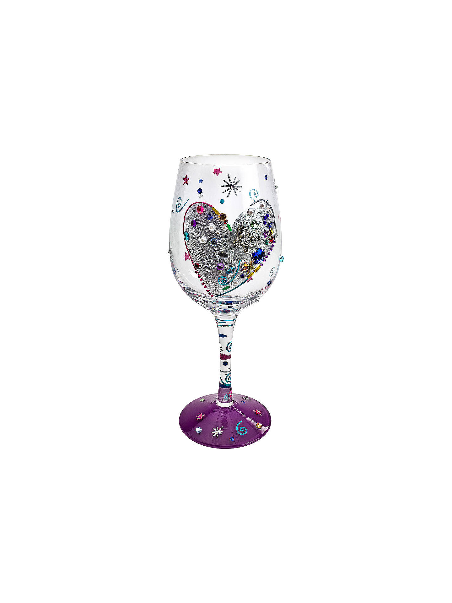9a87b784667a Buy Lolita Silver Lining Wine Glass Online at johnlewis.com ...