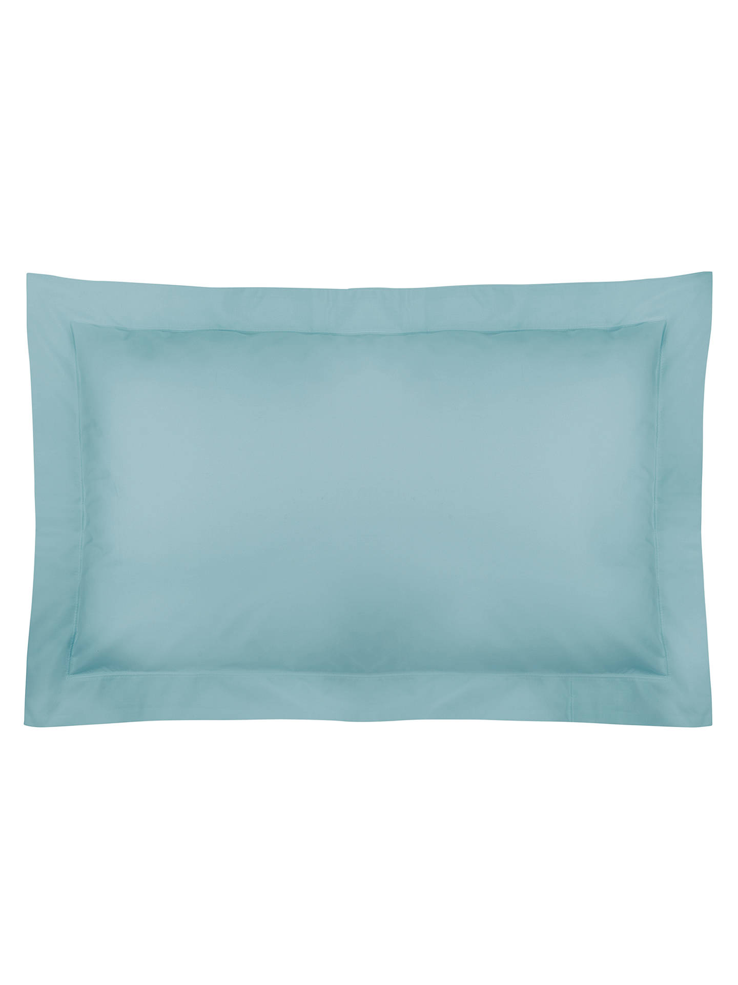 Buy John Lewis & Partners Crisp and Fresh 200 Thread Count Egyptian Cotton Oxford Pillowcase, Duck Egg Online at johnlewis.com
