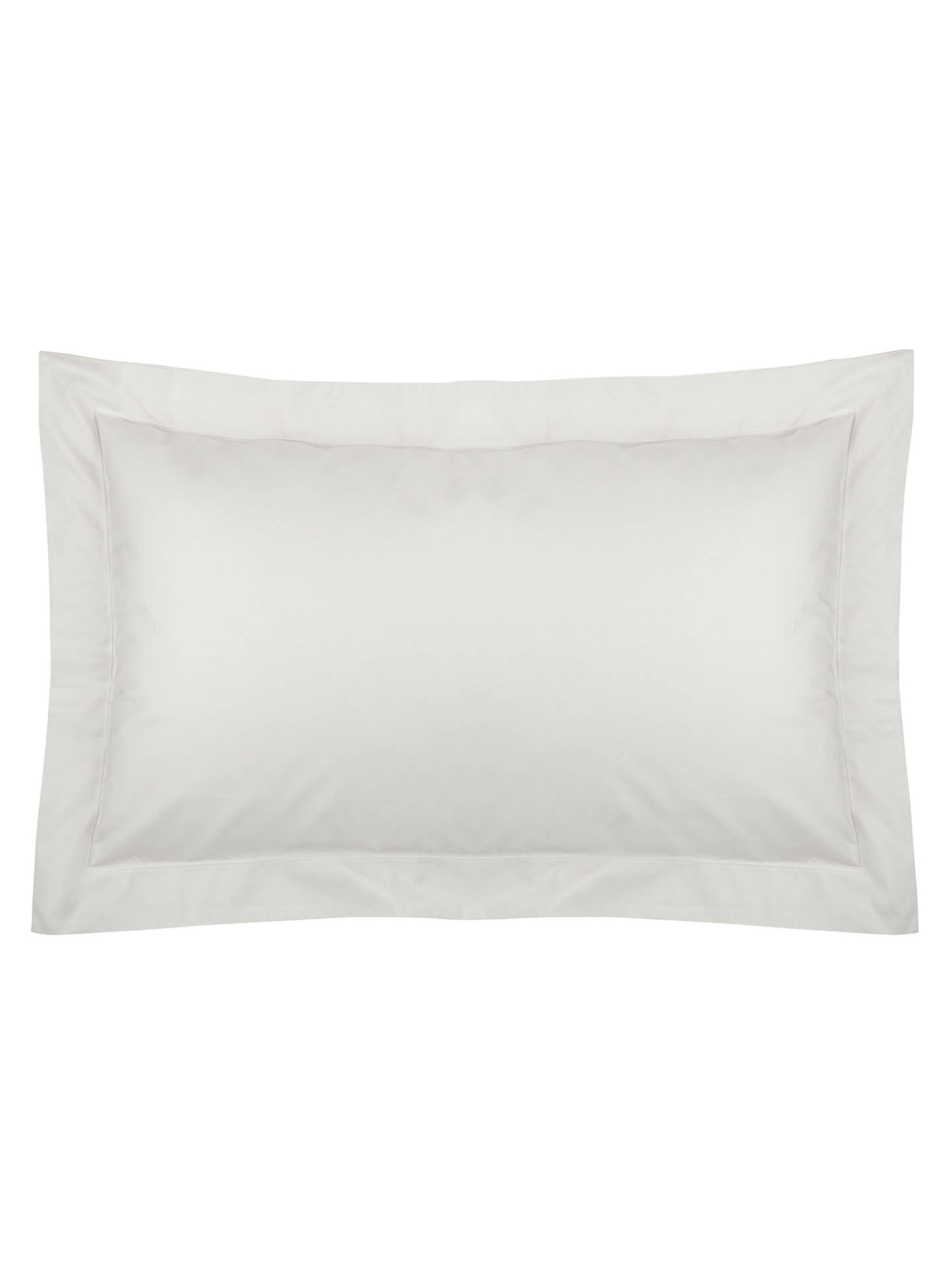 Buy John Lewis & Partners Crisp and Fresh 200 Thread Count Egyptian Cotton Oxford Pillowcase, Oyster Online at johnlewis.com
