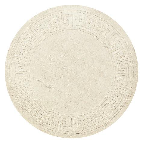 buy john lewis madras greek key rug cream dia150cm online at johnlewis