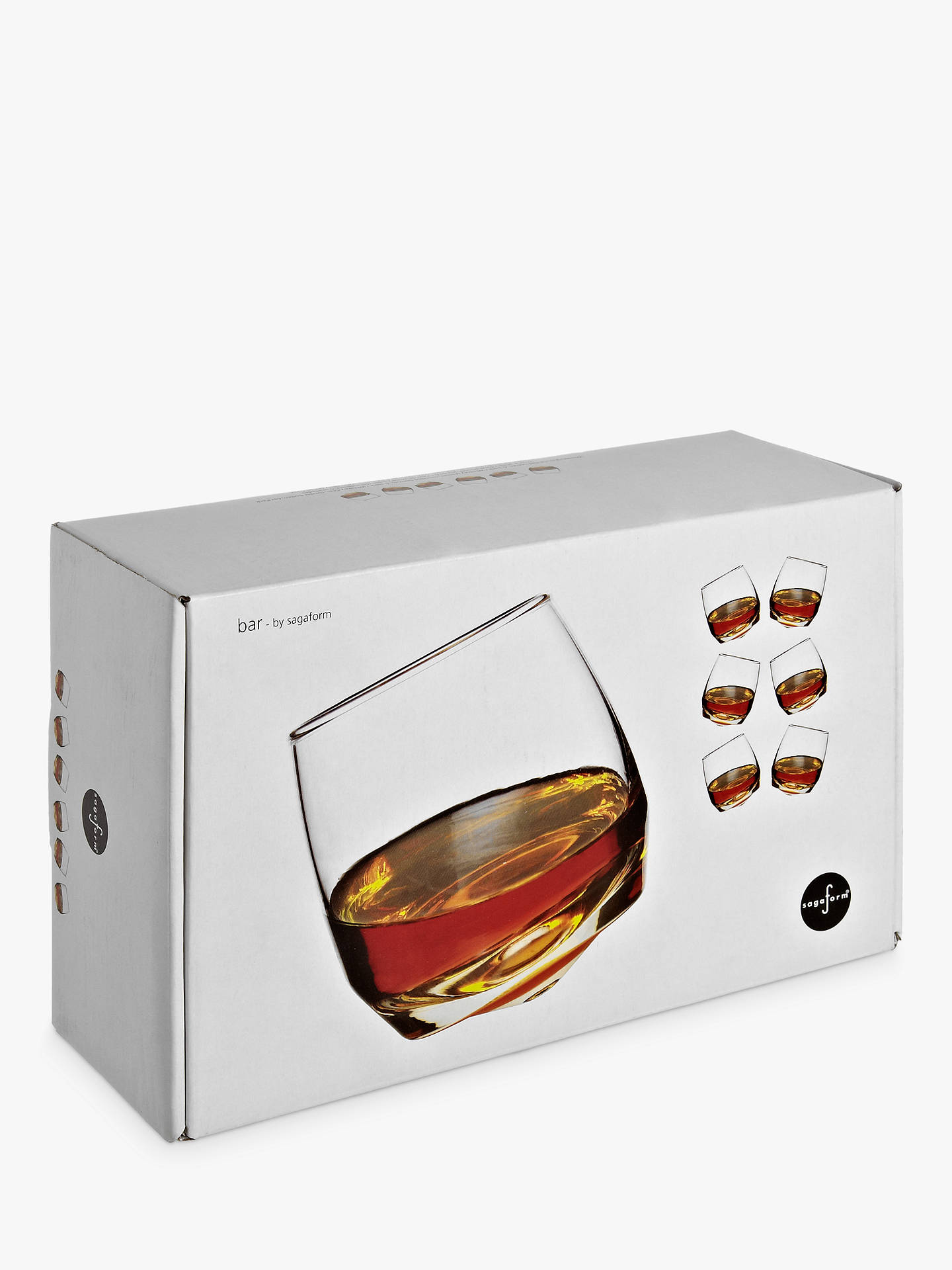 Buy Sagaform Round Bottom Whisky Glasses, Set of 6, 0.2L, Clear Online at johnlewis.com