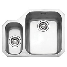 Buy Franke Ariane ARX160 1.5 Kitchen Sink and Plumbing Kit, Left Hand Small Bowl, Brushed Steel Online at johnlewis.com