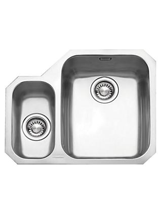 Franke Ariane ARX160 1.5 Right Hand Bowl Kitchen Sink, Brushed Steel