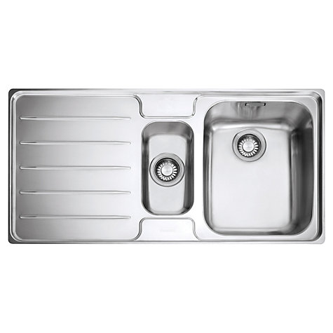 Buy Franke Laser LSX 651 1.5 Kitchen Sink with Right Hand Bowl, Stainless Steel Online at johnlewis.com