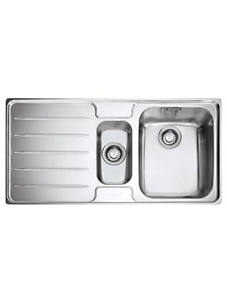 Franke Laser LSX 651 1.5 Kitchen Sink with Right Hand Bowl, Stainless Steel