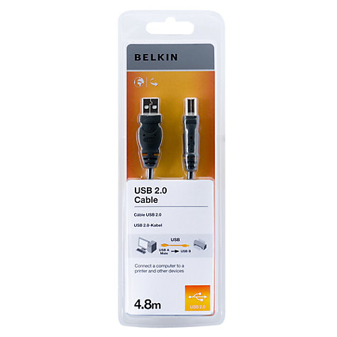 Buy Belkin USB Cable, 4.8 Metres Online at johnlewis.com