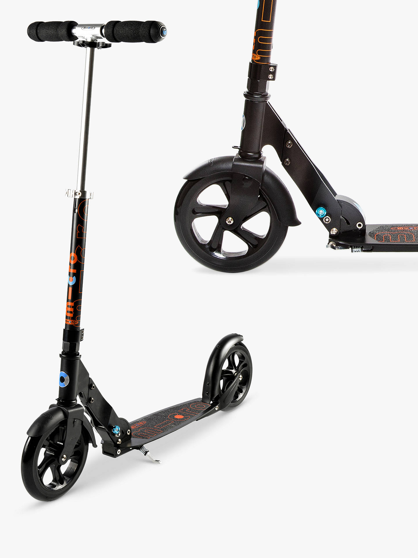 BuyMicro Scooter, Adult, Black Online at johnlewis.com