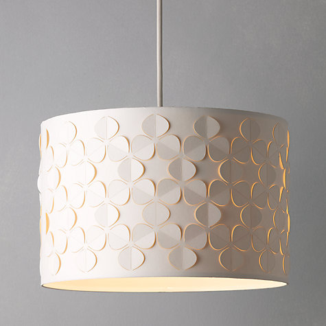 White | Ceiling Lighting | John Lewis:Buy John Lewis Clara Cutwork Drum Shade, White Online at johnlewis.com ...,Lighting