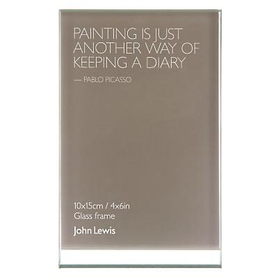 John Lewis Glass Sandwich Photo Frame, Portrait, 4 x 6 (10 x 15cm)