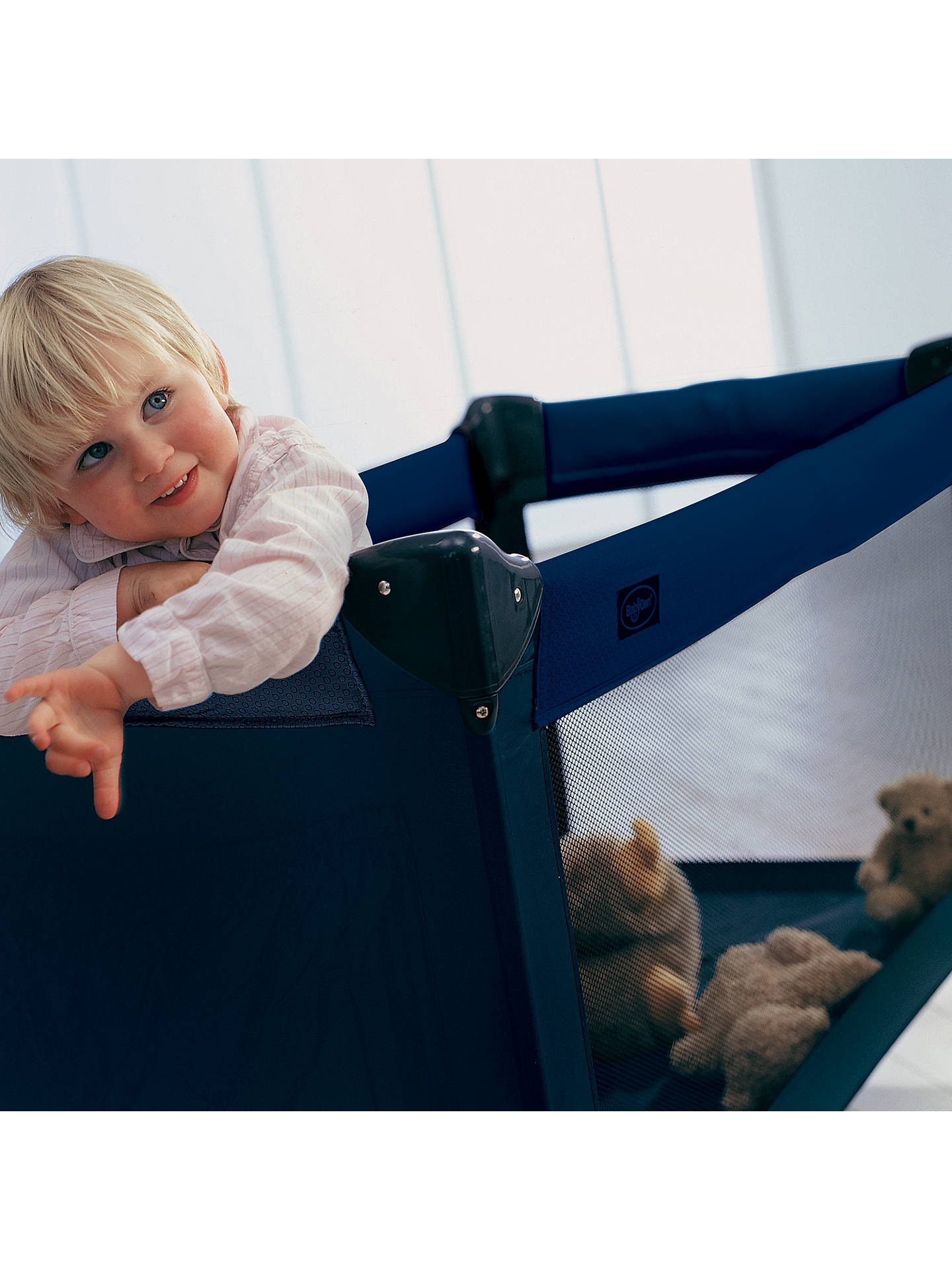 BuyBabyDan Travel Cot, Blue Online at johnlewis.com