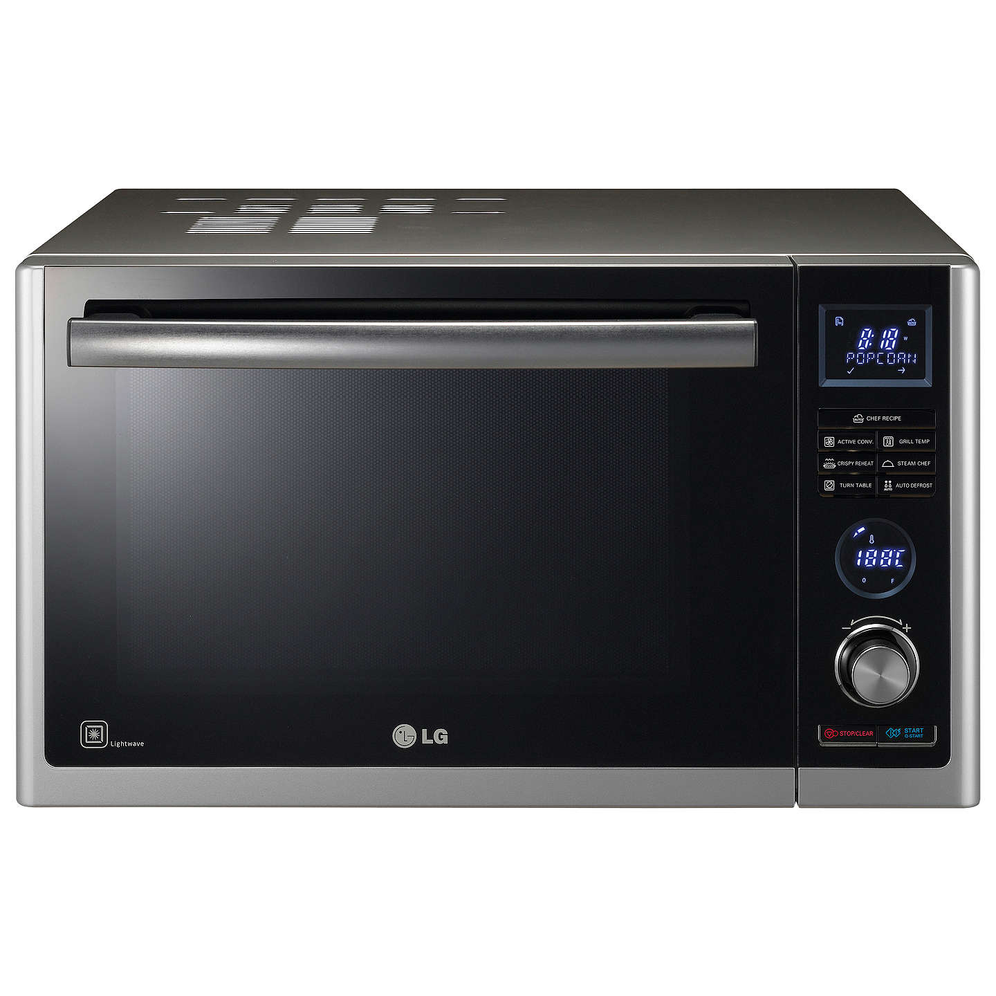 Lg Mj3281bcs Combination Microwave Convection Oven Black Stainless Steel Online At Johnlewis