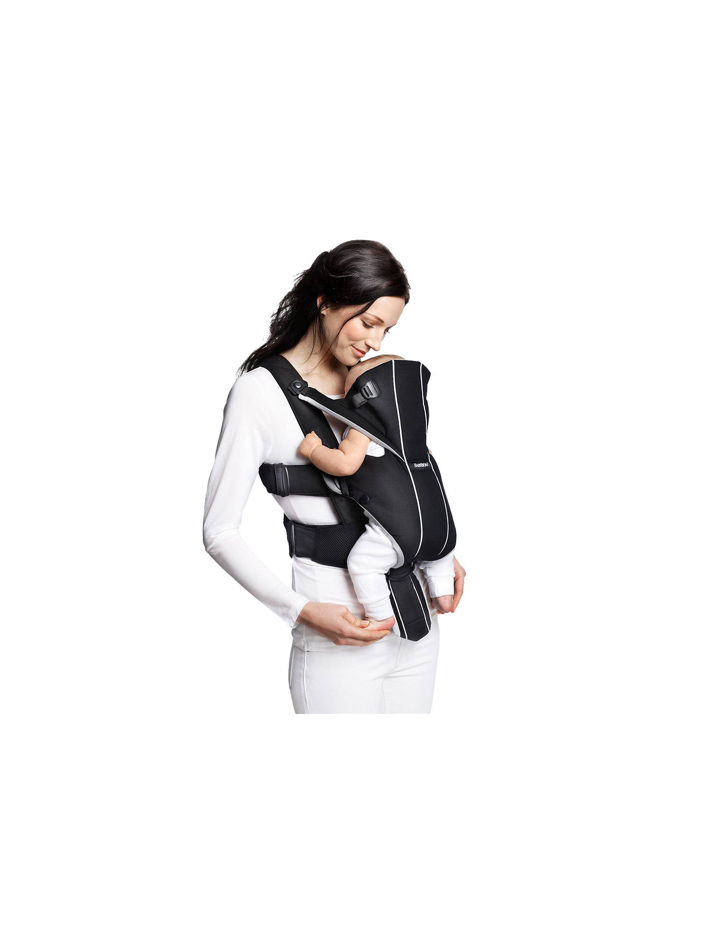 BuyBabyBjörn Miracle Carrier, Black/Silver Online at johnlewis.com