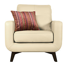 Buy John Lewis Barbican Armchair, Dark Legs, Soul White Leather Online at johnlewis.com
