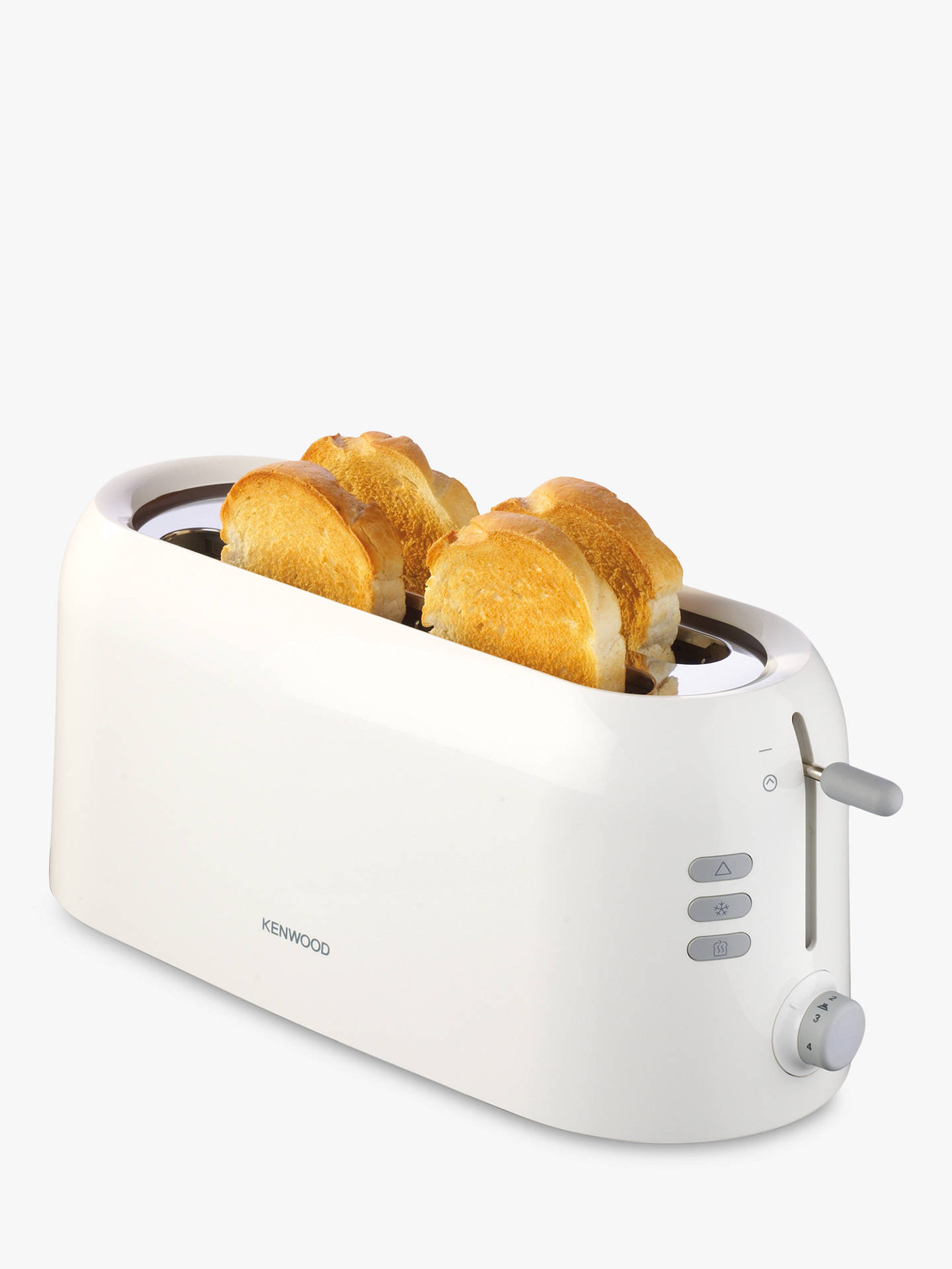 Buy Kenwood TTP210 4-Slice Long Toaster, White Online at johnlewis.com