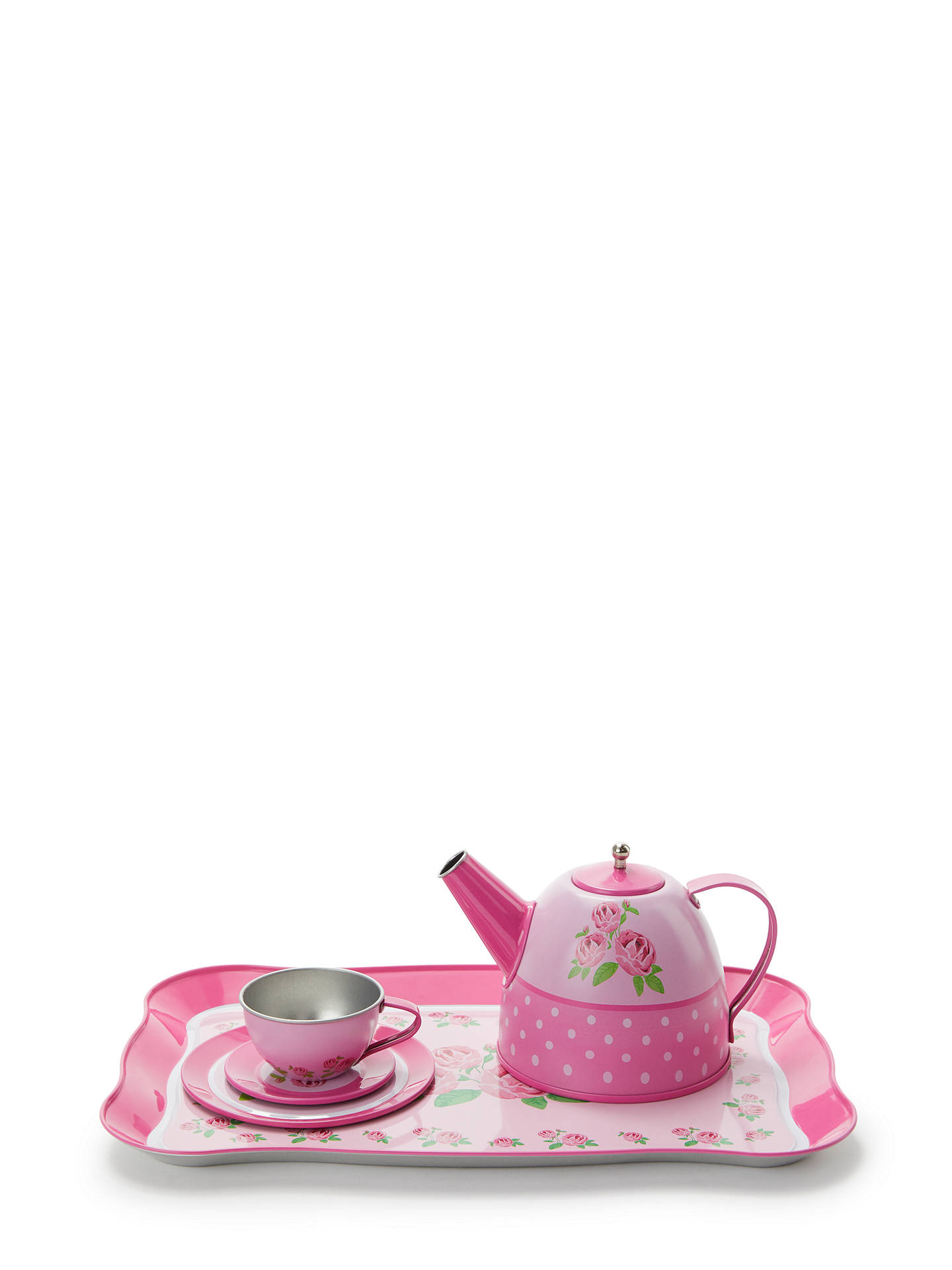 BuyJohn Lewis & Partners Toy Rose Tin Tea Set Online at johnlewis.com