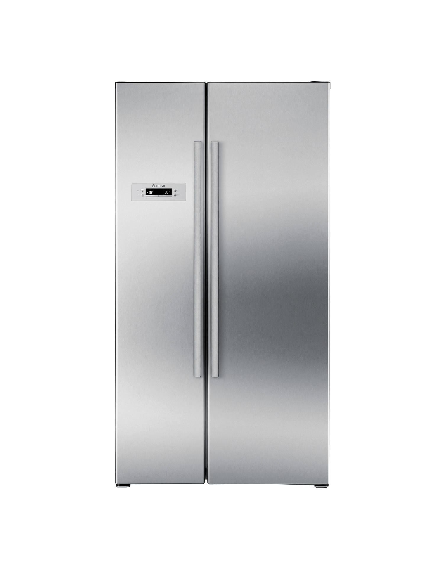 0acd836a0 Bosch KAN62V41GB American Style Fridge Freezer, Stainless Steel