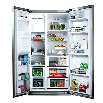 Product photo of Neff k3990x7gb american style fridge freezer stainless steel