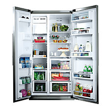 Buy Neff K3990X7GB American Style Fridge Freezer, Stainless Steel Online at johnlewis.com