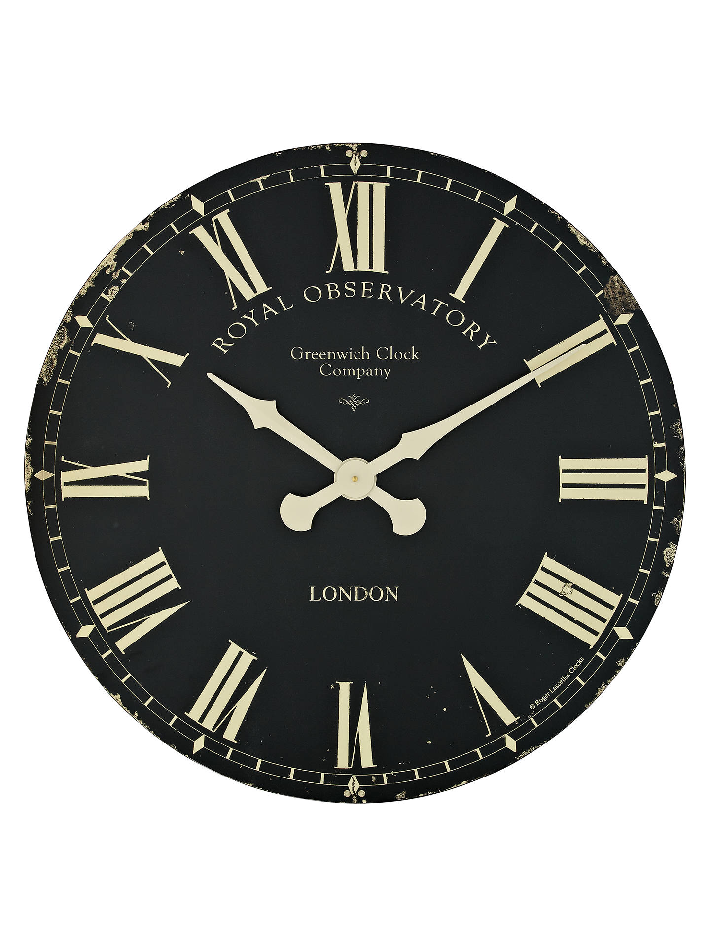Buy Lascelles Greenwich Oversized Wall Clock, Dia.70cm, Black Online at johnlewis.com