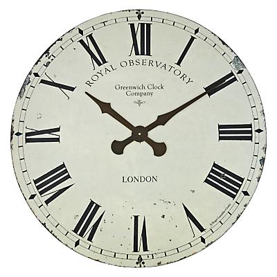 Lascelles Greenwich Wall Clock, Dia.70cm, Cream