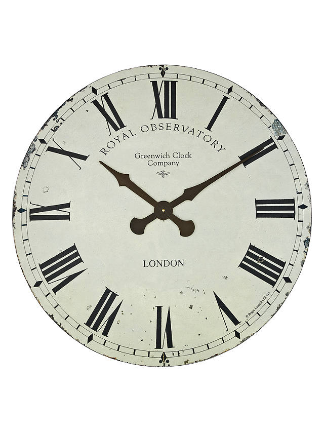 Buy Lascelles Greenwich Wall Clock, Dia.70cm, Cream Online at johnlewis.com
