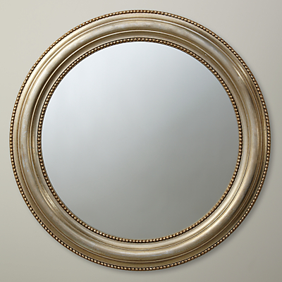 John Lewis Bead Round Mirror, Dia.76cm, Champagne