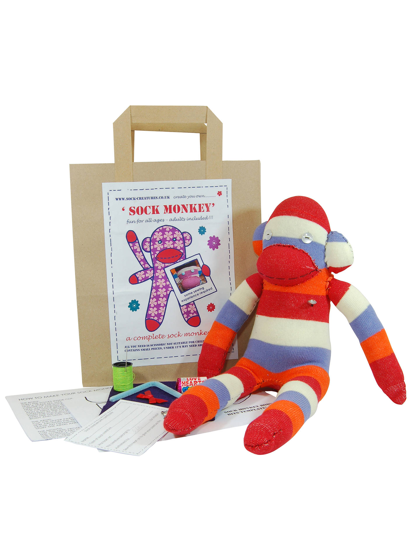 BuySock Creatures Sock Monkey Kit Online at johnlewis.com