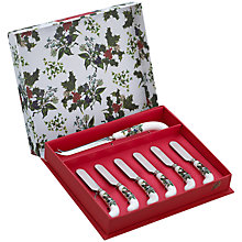 Buy Portmeirion The Holly and The Ivy Cheese Knife Set Online at johnlewis.com