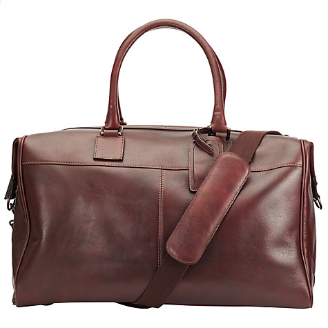 Buy John Lewis Gladstone Leather Holdall, Brown Online at johnlewis.com