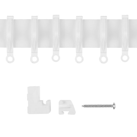 Buy John Lewis The Basics PVC Uncorded Track, Up to L200cm Online at johnlewis.com