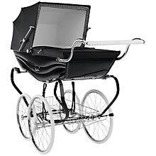 Buy Silver Cross Balmoral Pram, Black Gloss Online at johnlewis.com