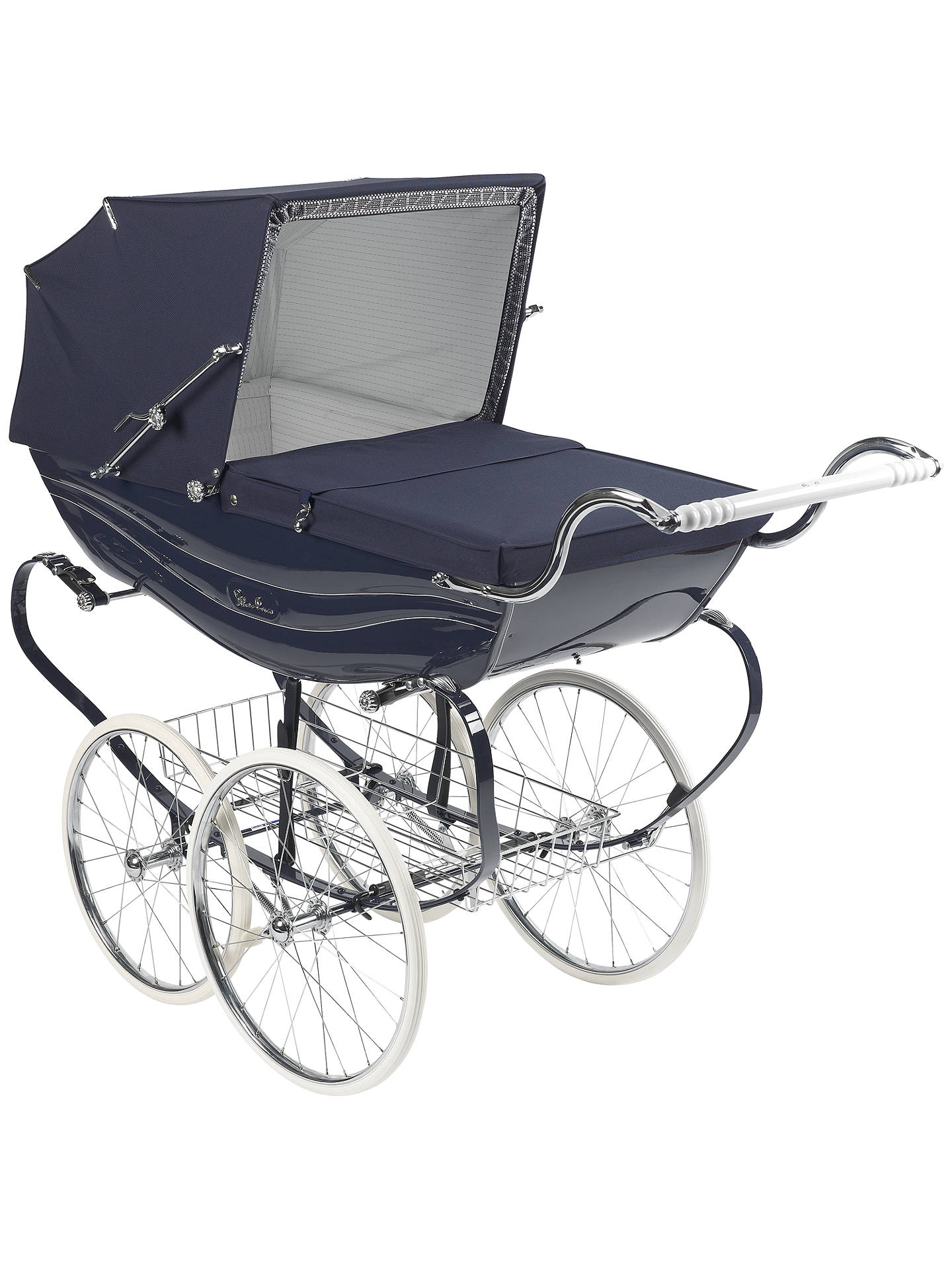 BuySilver Cross Balmoral Pram, Navy Gloss Online at johnlewis.com