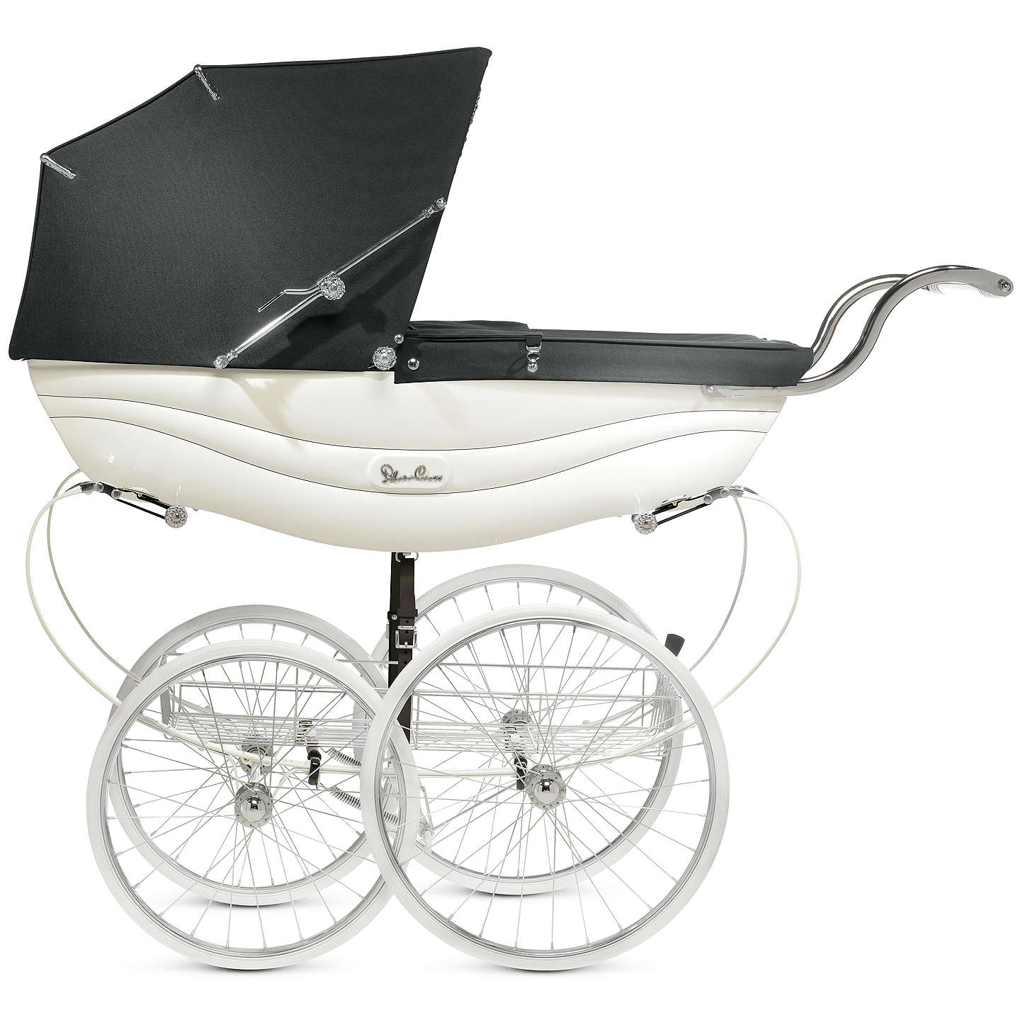 BuySilver Cross Balmoral Pram, White Gloss Online at johnlewis.com