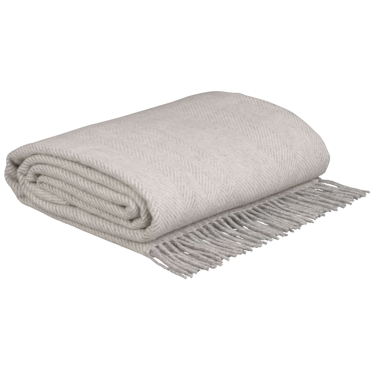 BuyBronte by Moon Herringbone Throw, Grey Online at johnlewis.com