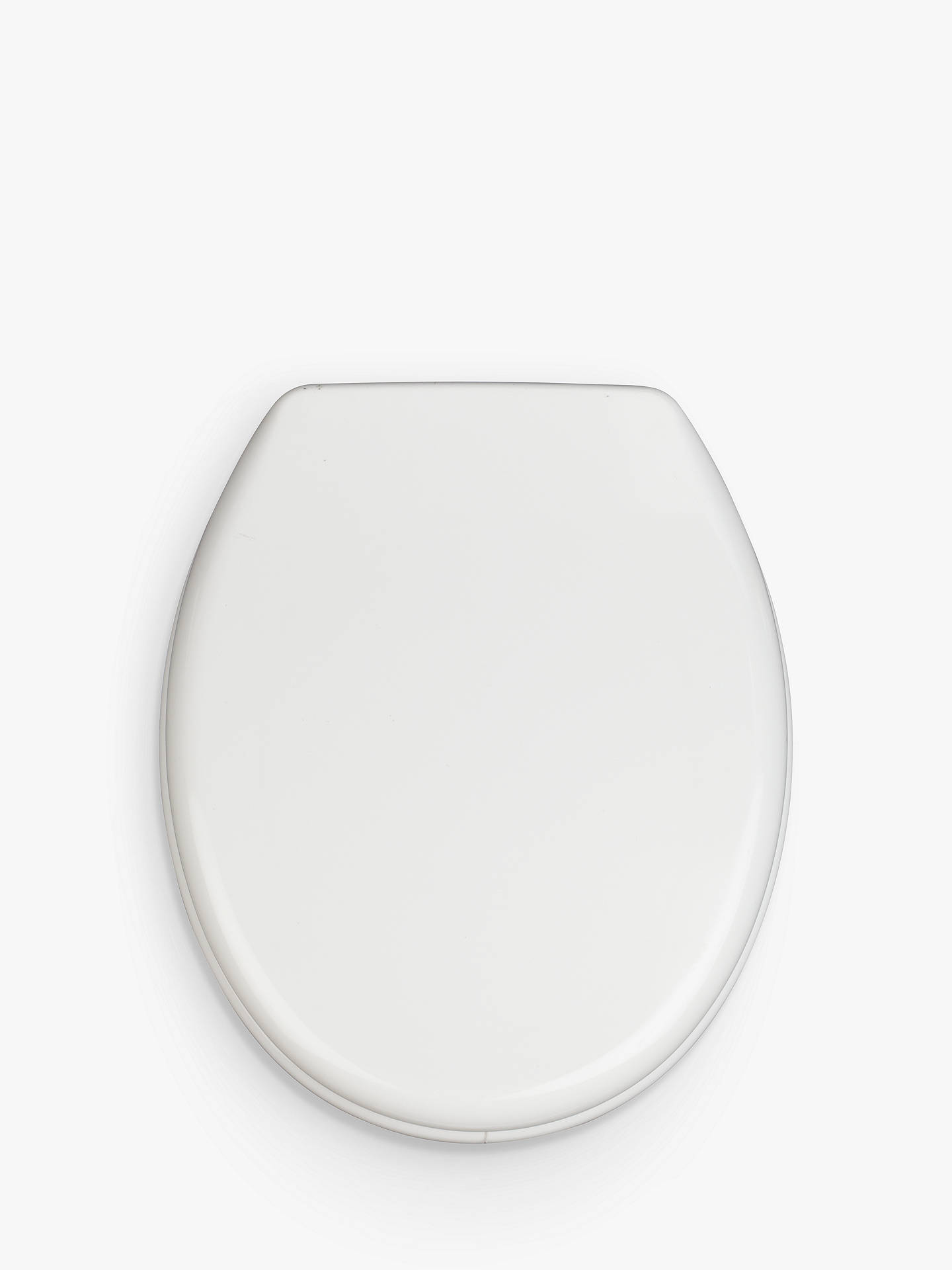 Buy John Lewis & Partners Quiet & Hygienic Toilet Seat, White Online at johnlewis.com