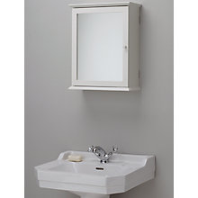 John Lewis St Ives Single Mirrored Bathroom Cabinet Online At Johnlewis