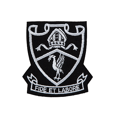 St Margaret's Church of England High School Sixth Form Blazer Badge, White