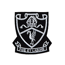 Buy St Margaret's Church of England High School Sixth Form Blazer Badge, White Online at johnlewis.com