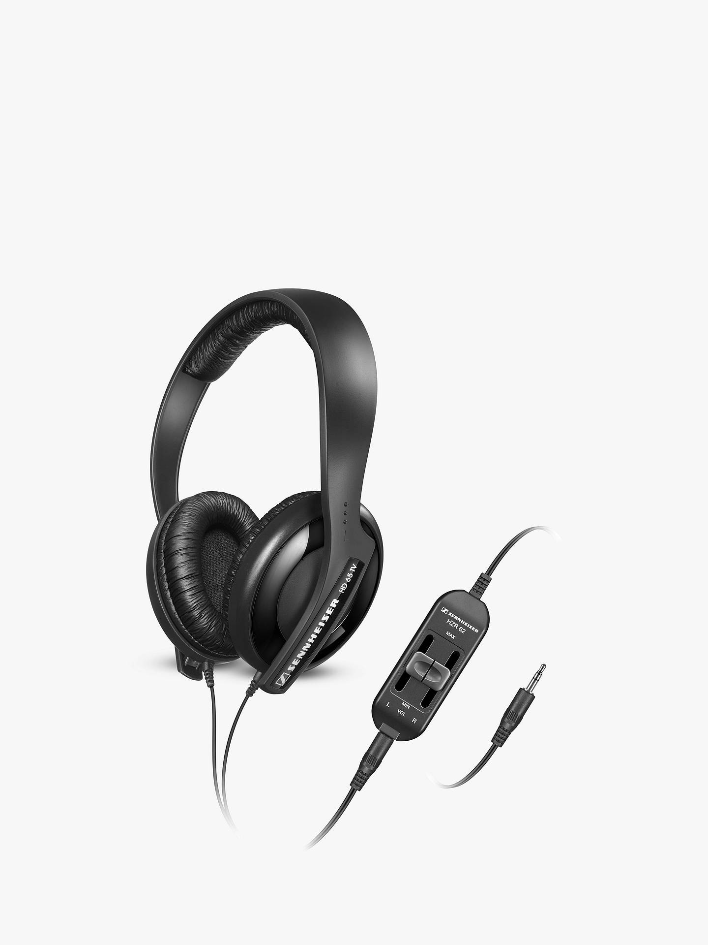 Sennheiser HD65 Full Size TV Headphones, Black