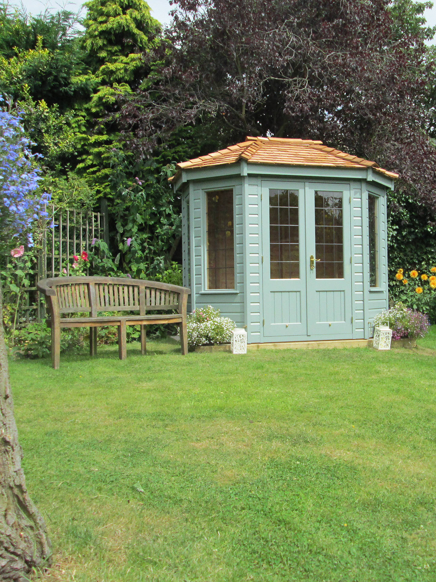 Buy Crane 1.8 x 2.5m Summerhouse, FSC-Certified (Scandinavian Redwood), Sage Online at johnlewis.com
